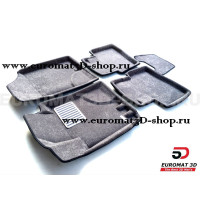 Текстильные 3D коврики Euromat3D Lux в салон для Kia Cerato (2010-2013) № EM3D-002722G Серые