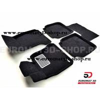 Текстильные 3D коврики Euromat3D Lux в салон для Bmw 5 GT (F07) № EM3D-001201