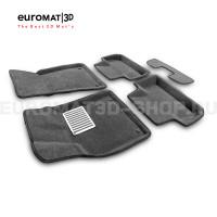 Текстильные 3D коврики Euromat3D Lux в салон для Audi Q5 (2008-2016) № EM3D-001104G Серые