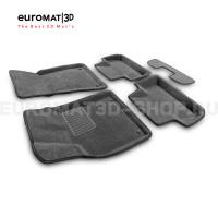 Текстильные 3D коврики Euromat3D Business в салон для Audi Q5 (2008-2016) № EMC3D-001104G Серые
