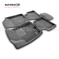 Текстильные 3D коврики Euromat3D Business в салон для Hyundai Elantra (2006-2008) № EMC3D-002722G Серые