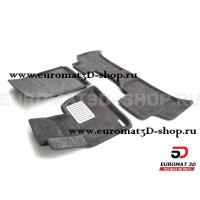 Текстильные 3D коврики Euromat3D Lux в салон для Bmw X5 (E53) (2000-2006) № EM3D-001211G Серые
