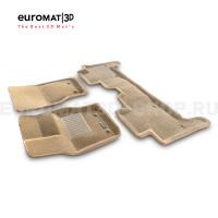 Текстильные 3D коврики Euromat3D Business в салон для Land Rover Range Rover Sport L494 (2014-) № EMC3D-003109T Бежевые