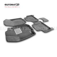 Текстильные 3D коврики Euromat3D Lux в салон для Mercedes GL-Class (X164) (2006-2012) № EM3D-003501G Серые