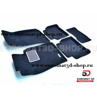 Текстильные 3D коврики Euromat3D Lux в салон для Mercedes E-Class (W211) (2002-2009) № EM3D-003520