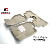 Текстильные 3D коврики Euromat3D Lux в салон для Mercedes E-Class (W211) (2002-2009) № EM3D-003520T Бежевые