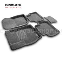 Текстильные 3D коврики Euromat3D Business в салон для Peugeot 4007 № EMC3D-003609G Серые
