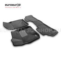 Текстильные 3D коврики Euromat3D Business в салон для Toyota Land Cruiser 200 (2012-2021) № EMC3D-005103G Серые
