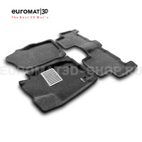 Текстильные 3D коврики Euromat3D Lux в салон для Toyota Rav 4 (2006-2013) № EM3D-005126G Серые