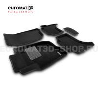 Текстильные 3D коврики Euromat3D Business в салон для Mitsubishi L200 (2015-) № EMC3D-003615