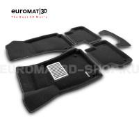 Текстильные 3D коврики Euromat3D Lux в салон для Audi A4 (2016-) № EM3D-001102