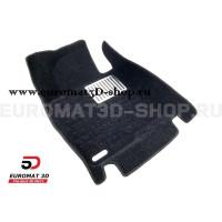 Текстильные 5D коврики с высоким бортом Euromat3D в салон для Hyundai Sonata (2017-) № EM5D-002929