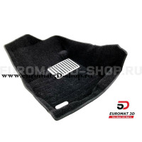 Текстильные 5D коврики с высоким бортом Euromat3D в салон для Peugeot 4007 № EM5D-003609