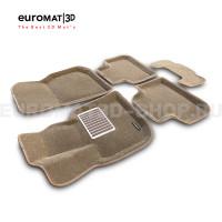 Текстильные 3D коврики Euromat3D Lux в салон для Bmw X3 (G01) (2017-) № EM3D-001222T Бежевые