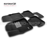 Текстильные 3D коврики Euromat3D Business в салон для Porsche Cayenne (2018-) № EMC3D-004106