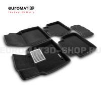 Текстильные 3D коврики Euromat3D Lux в салон для Toyota Camry XV70 (2018-) № EM3D-005101