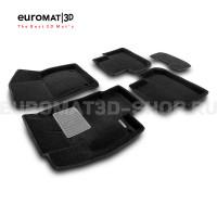 Текстильные 3D коврики Euromat3D Business в салон для Volkswagen Tiguan (2017-) (Укороченная) № EMC3D-005415.1