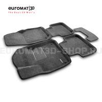Текстильные 3D коврики Euromat3D Business в салон для Porsche Cayenne (2018-) № EMC3D-004106G Серые