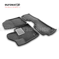 Текстильные 3D коврики Euromat3D Lux в салон для Kia Sorento Prime (2015-) № EM3D-002925G Серые