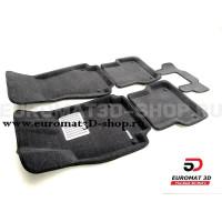 Текстильные 3D коврики Euromat3D Lux в салон для Audi A7 (2010-2018) № EM3D-001107G Серые