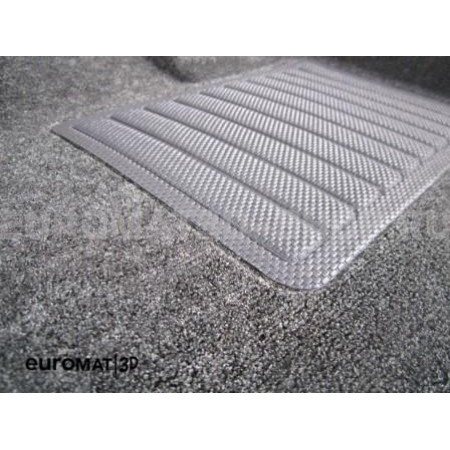 Текстильные 3D коврики Euromat3D Business в салон для Audi A6 (2011-2018) № EMC3D-001107G Серые