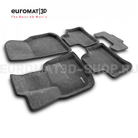 Текстильные 3D коврики Euromat3D Business в салон для Bmw X3 (G01) (2017-) № EMC3D-001222G Серые