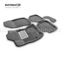 Текстильные 3D коврики Euromat3D Lux в салон для Subaru Legacy (2010-) № EM3D-004704G Серые