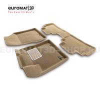 Текстильные 3D коврики Euromat3D Lux в салон для Nissan Murano (Z52) (2016-) № EM3D-003729T Бежевые