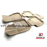 Текстильные 3D коврики Euromat3D Lux в салон для Bmw X1 (F48) № EM3D-001220T Бежевые