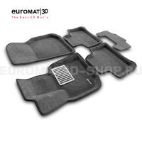 Текстильные 3D коврики Euromat3D Lux в салон для Bmw X4 (G02) (2018-) № EM3D-001222G Серые