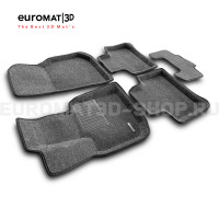 Текстильные 3D коврики Euromat3D Business в салон для Bmw X4 (G02) (2018-) № EMC3D-001222G Серые