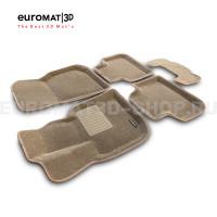 Текстильные 3D коврики Euromat3D Business в салон для Bmw X4 (G02) (2018-) № EMC3D-001222T Бежевые