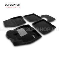 Текстильные 3D коврики Euromat3D Premium в салон для Ford Explorer (2015-) № EMPR3D-002217