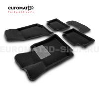 Текстильные 3D коврики Euromat3D Premium в салон для Mercedes CLS-Class (C257) (2018-) № EMPR3D-003519