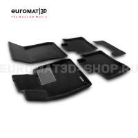 Текстильные 3D коврики Euromat3D Premium в салон для Mercedes S-Class (W222) (2013-2020) № EMPR3D-003515