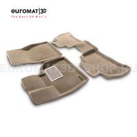Текстильные 3D коврики Euromat3D Lux в салон для Bmw X5 (G05) (2018-) № EM3D-001214T Бежевые
