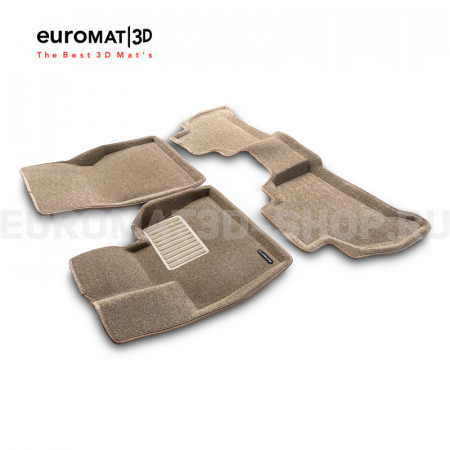 Текстильные 3D коврики Euromat3D Business в салон для Bmw X5 (G05) (2018-) № EMC3D-001214T Бежевые