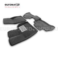Текстильные 3D коврики Euromat3D Lux в салон для Bmw X6 (G06) (2018-) № EM3D-001227G Серые