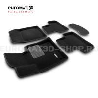 Текстильные 3D коврики Euromat3D Premium в салон для Volvo XC 60 (2018-) № EMPR3D-005502