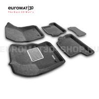 Текстильные 3D коврики Euromat3D Lux в салон для Ford Focus 3 (2011-) № EM3D-002207G Серые