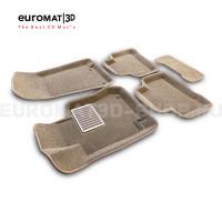 Текстильные 3D коврики Euromat3D Lux в салон для Mercedes GLC-Class (X253) (2015-) № EM3D-003518T Бежевые
