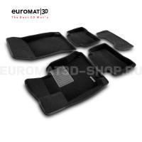 Текстильные 3D коврики Euromat3D Premium в салон для Mercedes CLS-Class (W218) (2011-2017) № EMPR3D-003505