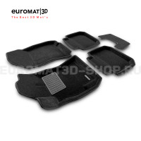 Текстильные 3D коврики Euromat3D Premium в салон для Subaru Legacy (2010-) № EMPR3D-004704