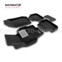 Текстильные 3D коврики Euromat3D Lux в салон для Honda Accord (2002-2007) № EM3D-002605