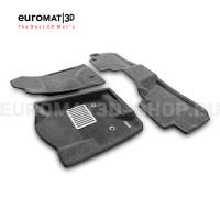 Текстильные 3D коврики Euromat3D Lux в салон для Cadillac Escalade (2015-2021) № EM3D-001306G Серые
