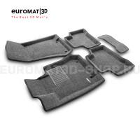 Текстильные 3D коврики Euromat3D Business в салон для Mercedes GLC-Class (X253) (2015-) № EMC3D-003518G Серые