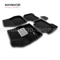 Текстильные 3D коврики Euromat3D Lux в салон для Ford Kuga (2008-2012) № EM3D-002208
