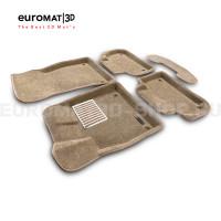 Текстильные 3D коврики Euromat3D Lux в салон для Audi Q5 (2017-) № EM3D-001101T Бежевый