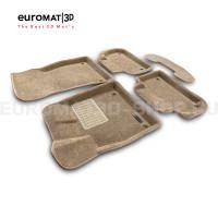 Текстильные 3D коврики Euromat3D Business в салон для Audi Q5 (2017-) № EMC3D-001101T Бежевые