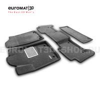 Текстильные 3D коврики Euromat3D Lux в салон для Nissan Patrol (2010-) № EM3D-002813G Серые